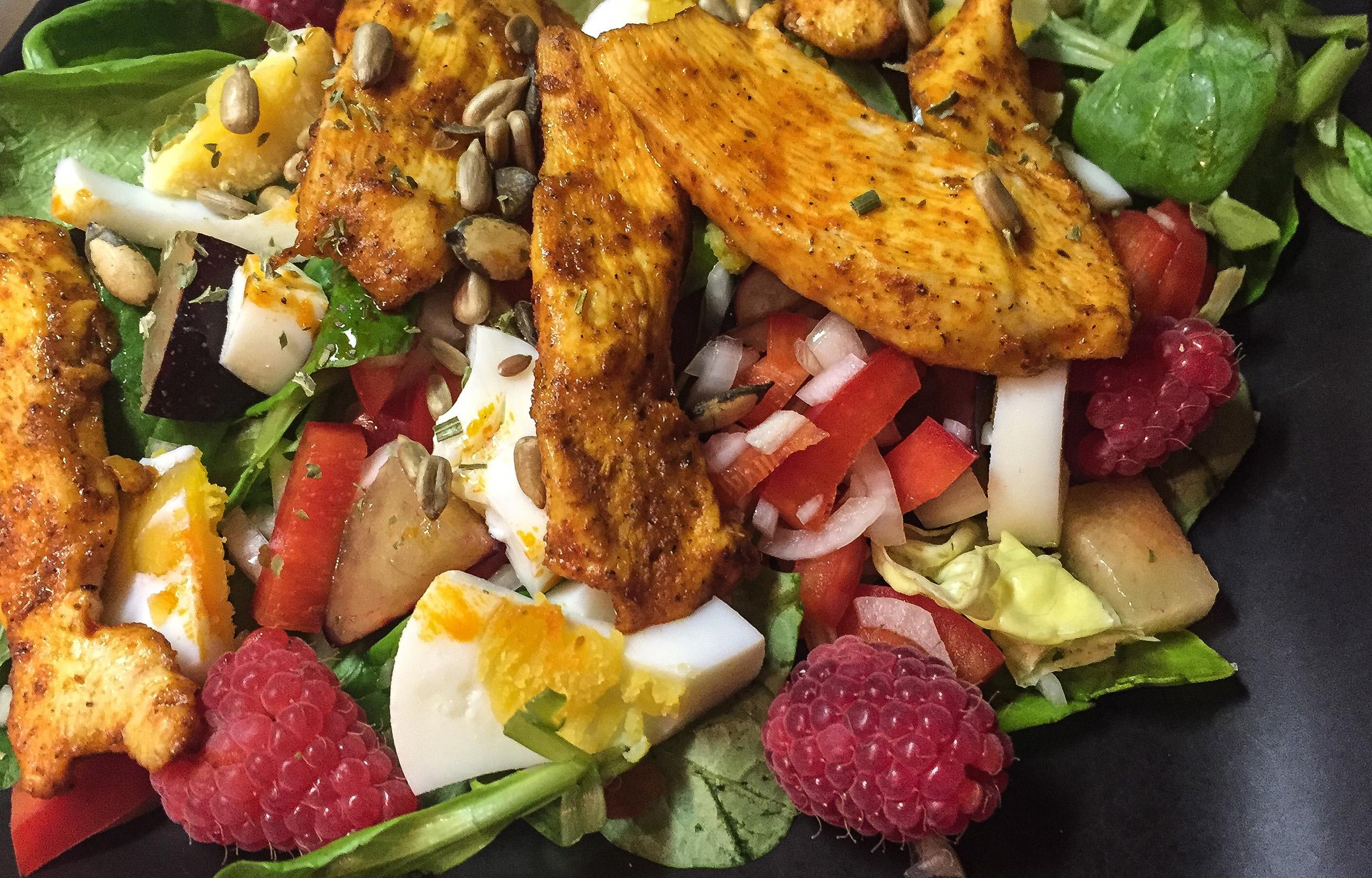 HerrWeber Salat Fruechte Fleisch
